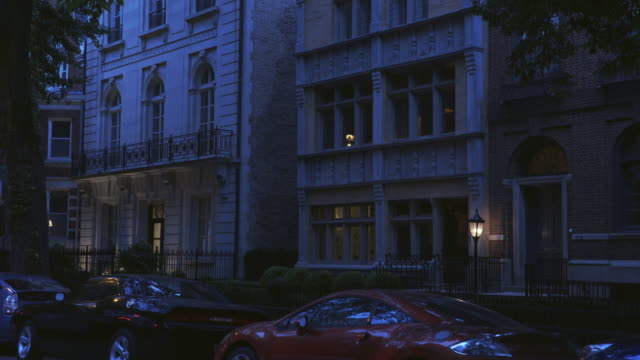 night exterior luxury apartments - terraced house stock videos & royalty-free footage