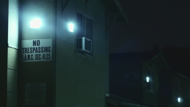 night exterior public housing - no trespassing stock videos & royalty-free footage