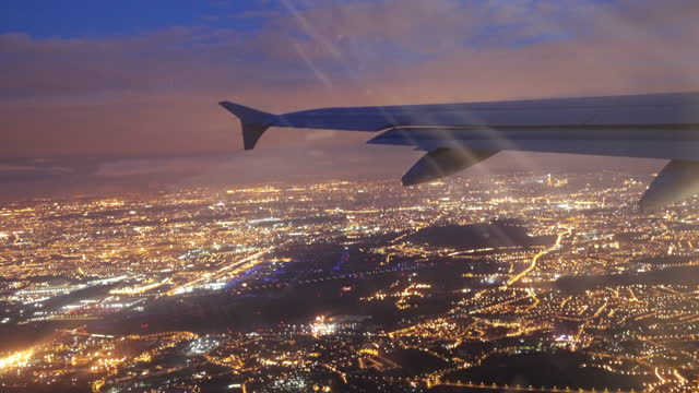stockvideo's en b-roll-footage met night flight - reizen