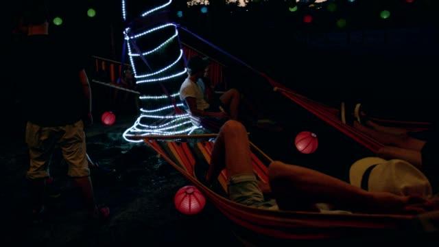 night garden party - garden party stock videos & royalty-free footage