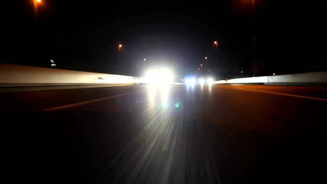 night highway ,rear view - headlight stock videos and b-roll footage