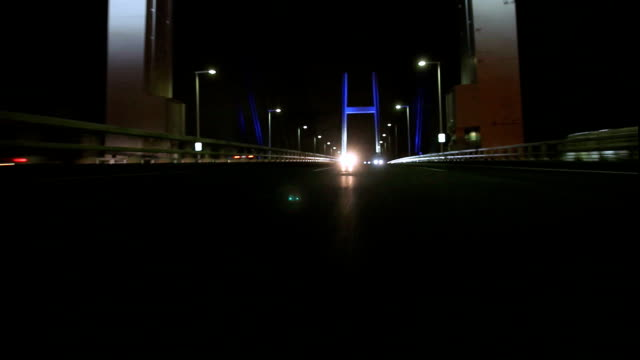Night highway ,Rear View (timelapse)