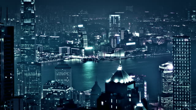 night hong kong - bank of china tower hong kong stock videos and b-roll footage