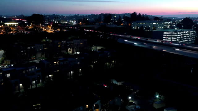 night hyper lapse in san diego - trolleybus stock-videos und b-roll-filmmaterial