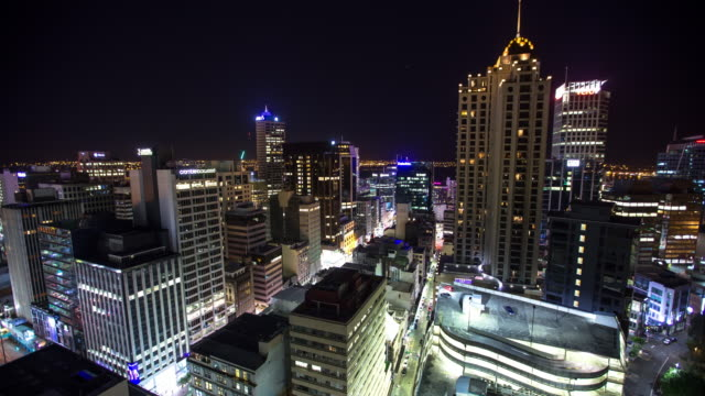 Night in Auckland City Centre - Time Lapse