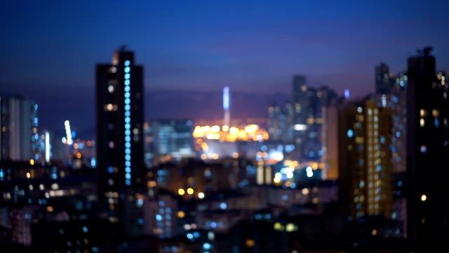 night in hong kong in motion blur - mack2happy stock videos and b-roll footage