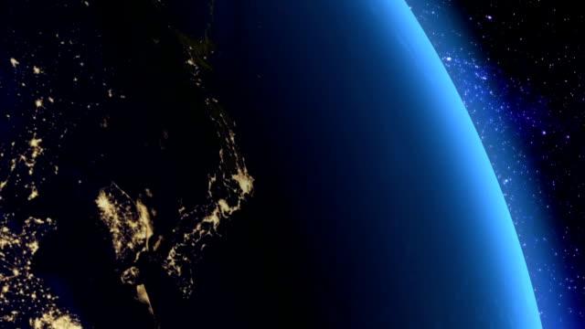 日本の夜からスペース - サテライト写真点の映像素材/bロール