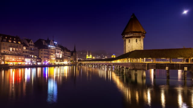 Night in Lucerne - Time Lapse