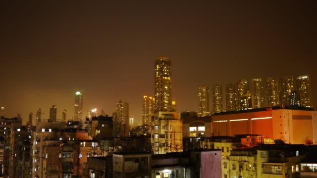 tl night in sham shui po, mong kok, hong kong - mong kok stock videos & royalty-free footage