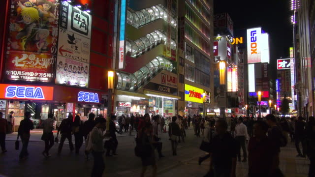 night life at akihabara - japan stock videos & royalty-free footage