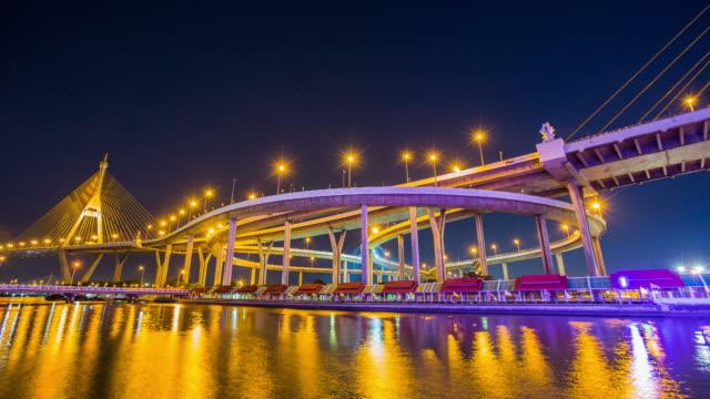 Night light Bhumibol 1 Bridge.