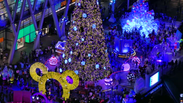 night lights of the city with christmas tree - the strand london stock videos and b-roll footage