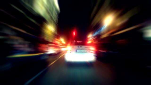 vidéos et rushes de nuit de madrid - taxi