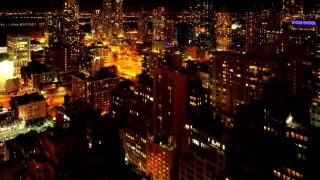 Zeitraffer Nacht Manhattan