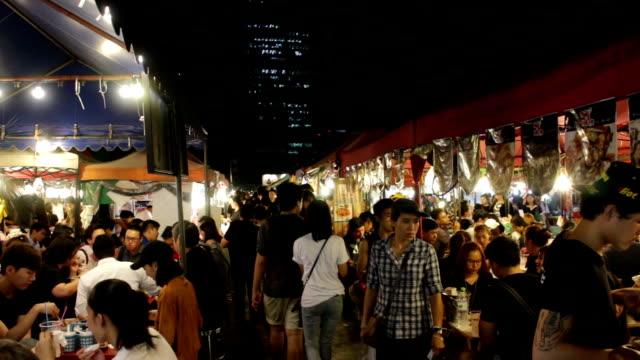 Night market at Bangkok thailand