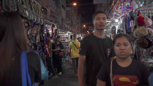 night market full of people in chinatown, bangkok, thailand, southeast asia, asia - bangkok stock videos & royalty-free footage