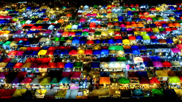 night market in bangkok,thailand - chaos stock videos & royalty-free footage