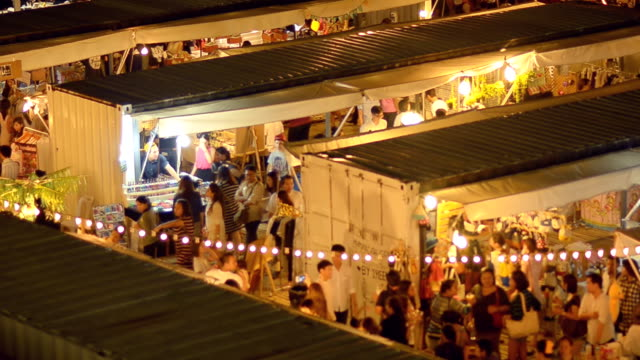 night market in container in Thailand