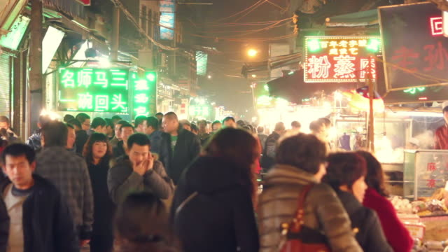 ms night market/xian,shaanxi,china - chinese culture stock videos & royalty-free footage