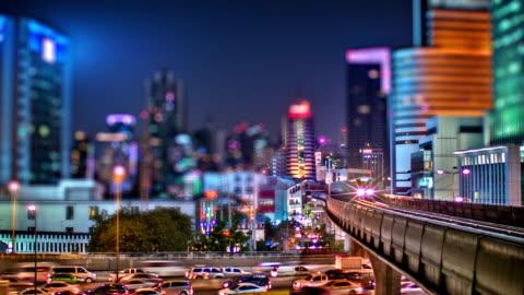 night modern city - bangkok stock videos & royalty-free footage