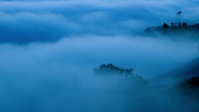 Night Mountain Fog in Big Sur