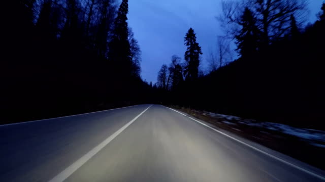 night mountain road - 4k resolution - mountain road stock videos & royalty-free footage