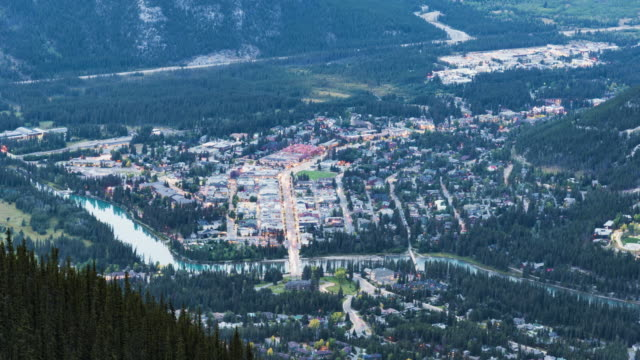 night of banff town - banff stock videos & royalty-free footage