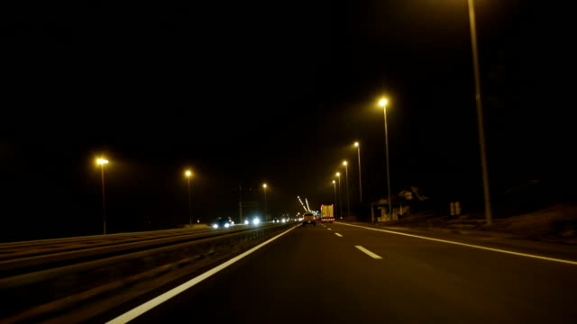 night on the highway - traffic accident stock videos & royalty-free footage