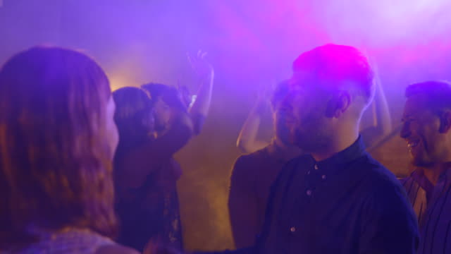 night out together - strobe light stock videos & royalty-free footage