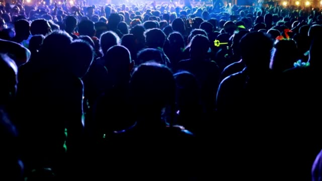 night outdoor music festivals - concert crowd stock videos & royalty-free footage