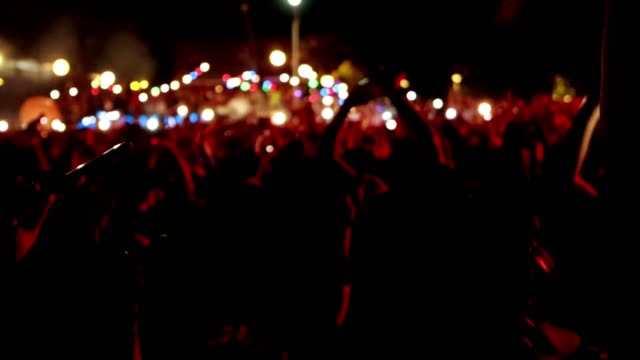 night outdoor music festivals - concert stock videos & royalty-free footage
