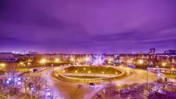 Night. Paris. Croasroads.