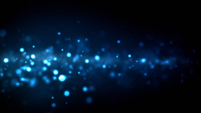 stockvideo's en b-roll-footage met night particles loop - blue (hd) - turquoise