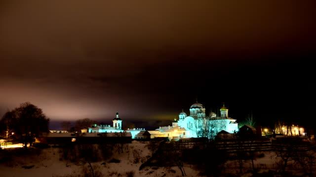 night polotsk - circa 12th century stock videos & royalty-free footage