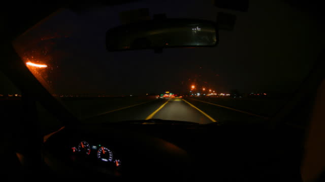 night ride on the highway, loopable - tail light stock videos & royalty-free footage