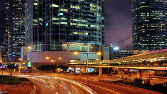 Nacht road und Stadt