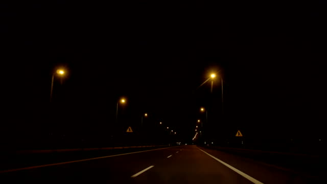 night road refleсtors - road marking stock videos & royalty-free footage