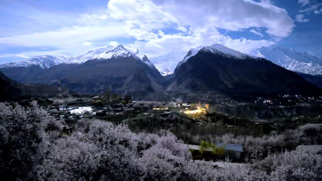 night scene time lapse of Hunza valley,pakistan