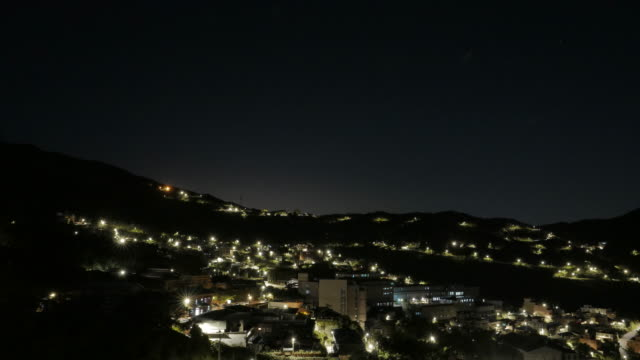 Nacht scène timelapse, Jiufen, Taiwan