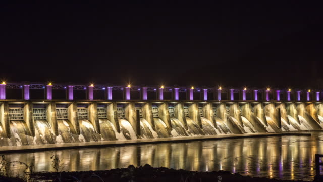 Night scenery of Cheongpyeong dam