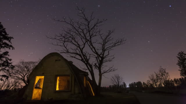Night scenery of Cteshphon house and star field