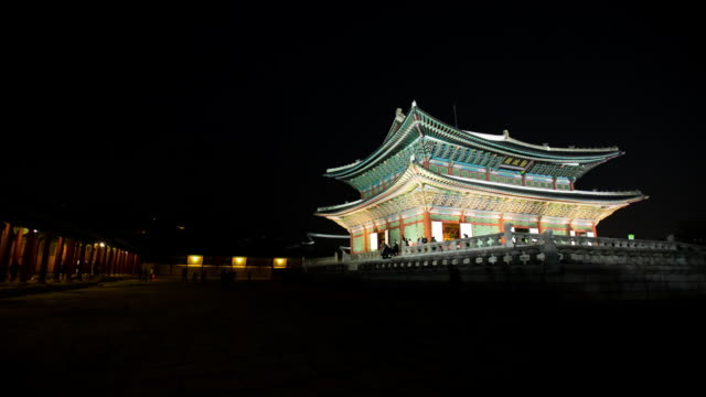 Night scenery of Gyeongbokgung Royal Palace (Unesco Heritage)