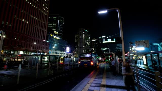 Night scenery of Seoul Station Bus Transfer Center