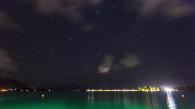 stockvideo's en b-roll-footage met night scenery of the sea - franse overzeese gebieden