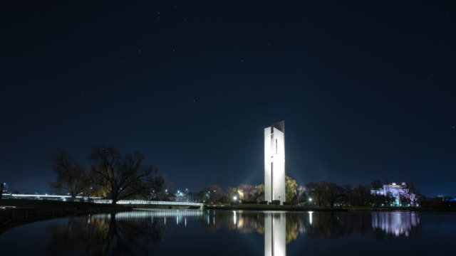 night scenery view of starfield over aspen island (popular tourist attraction) - canberra stock videos and b-roll footage