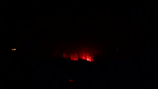 Night shoot broll of fissure 17 eruption shot from Highway 137 in Hawaii May 14 2018 Image courtesy Senior Airman Orlando Corpuz/State of Hawaii...