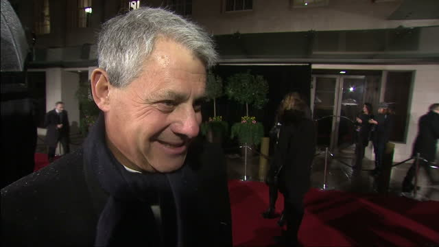 night shot interview with sir cameron mackintosh on bafta success british academy film awards at the royal opera house on february 10 2013 in london... - cameron mackintosh stock videos & royalty-free footage