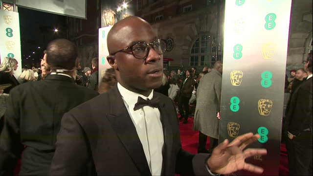 night shots of director barry jenkins talking about his new film moonlight on february 12 2017 in london england - barry jenkins film director stock videos and b-roll footage