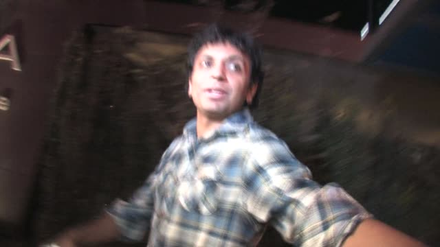 M Night Shyamalan leaving Trousdale in West Hollywood at the Celebrity Sightings in Los Angeles at Los Angeles CA