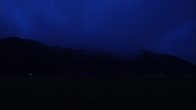 night; silhouette of hills - distant stock videos & royalty-free footage